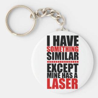 Mine has a laser keychain