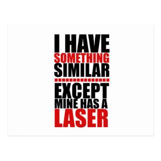 Mine has a laser postcard