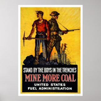 Mine más carbón póster