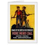 Mine more coal greeting card