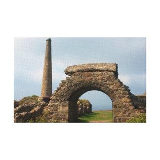 Mine Ruins Botallack Cornwall England Poldark Canvas Print
