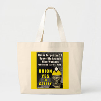 Mine Workers Jumbo Tote Canvas Bags