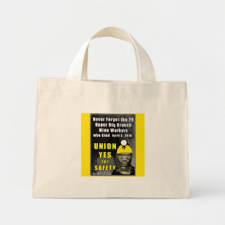 Mine Workers Tiny Tote Tote Bag