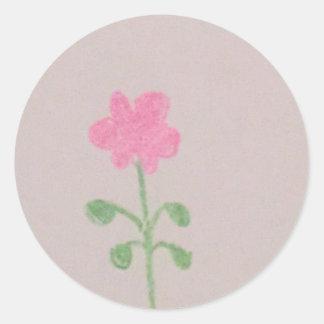 Minecraft pink flower sticker