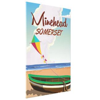 Minehead Somerset vintage travel poster Canvas Print
