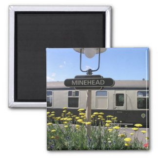 Minehead station, Somerset 2 Inch Square Magnet