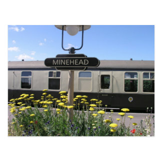 Minehead station, Somerset Postcard