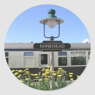 Minehead station, Somerset Round Stickers