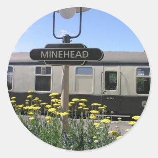 Minehead station, Somerset Round Sticker