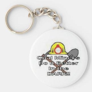 miner 2 basic round button keychain