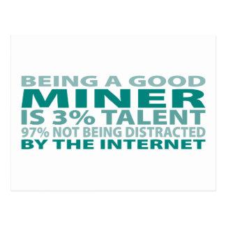 Miner 3% Talent Postcard