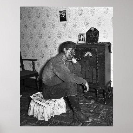 Miner acomodado, 1938 póster