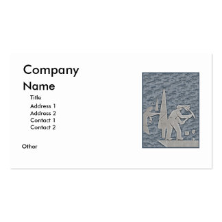 Miner Double-Sided Standard Business Cards (Pack Of 100)
