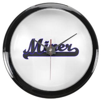 Miner Classic Job Design Aqua Clocks