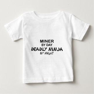 Miner Deadly Ninja by Night Baby T-Shirt