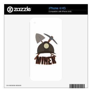 Miner Decal For iPhone 4