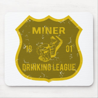 Miner Drinking League Mouse Pad