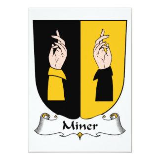 Miner Family Crest 5x7 Paper Invitation Card