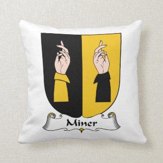 Miner Family Crest Pillows