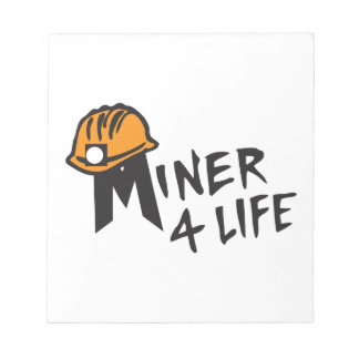 Miner For Life Memo Note Pad