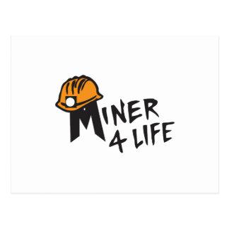Miner For Life Postcard