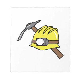 MINER HAT AND PICKAXE MEMO NOTEPADS