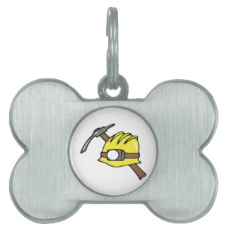 MINER HAT AND PICKAXE PET TAG