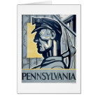 Miner In Pennsylvania 1937 WPA Card