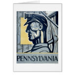Miner In Pennsylvania 1937 WPA Greeting Card