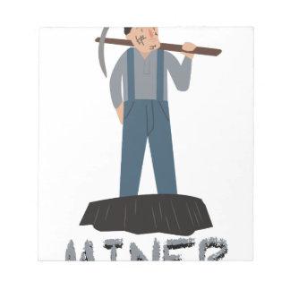 Miner Man Scratch Pad