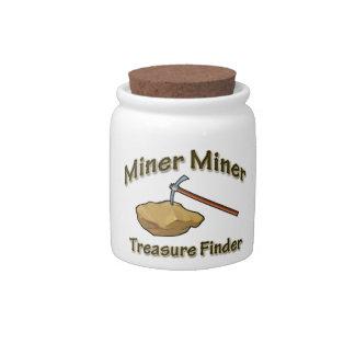 Miner Miner Treasure FInder Candy Jar