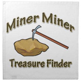 Miner Miner Treasure FInder Cloth Napkin