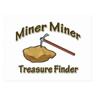 Miner Miner Treasure FInder Postcard