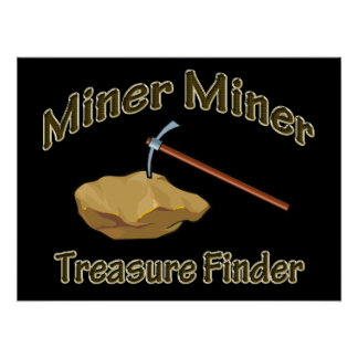 Miner Miner Treasure FInder Poster