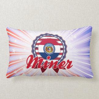 Miner, MO Throw Pillow