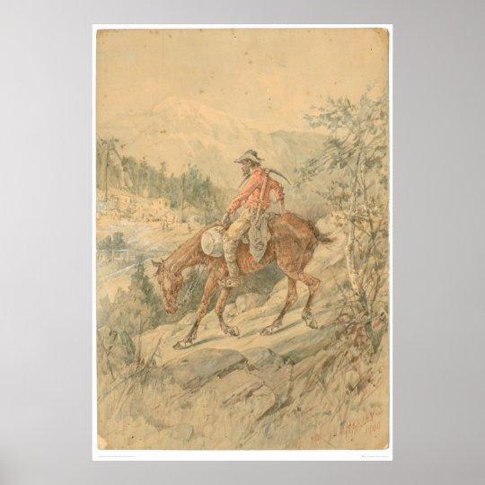Miner on Horseback (0692A) Poster