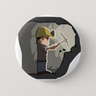 Miner Pinback Button