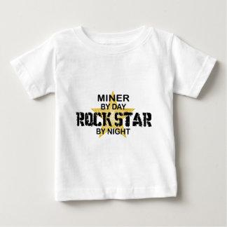 Miner Rock Star by Night Baby T-Shirt