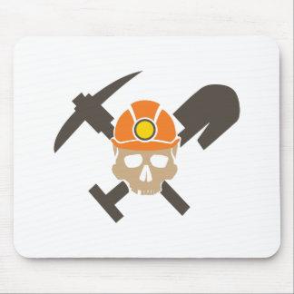 Miner Skull Mouse Pad