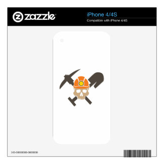 Miner Skull Skins For The iPhone 4S