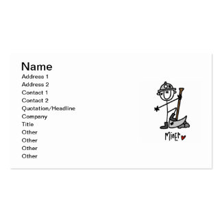 Miner Stick Figure Double-Sided Standard Business Cards (Pack Of 100)