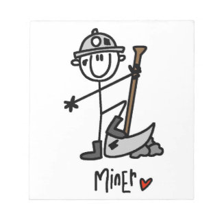 Miner Stick Figure Notepads