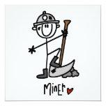 Miner Stick Figure Personalized Invitation