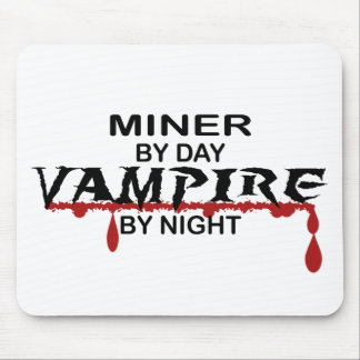 Miner Vampire by Night Mouse Pad