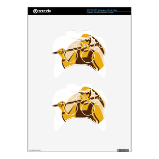 miner worker with pick ax retro xbox 360 controller decal