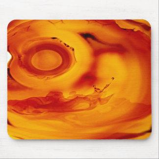 Mineral ambarino anaranjado rojo Mousepad de la ro