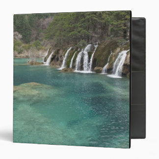 Mineral deposits make waterfalls and clear 3 ring binder