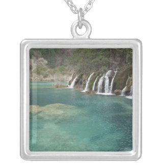 Mineral deposits make waterfalls and clear necklace