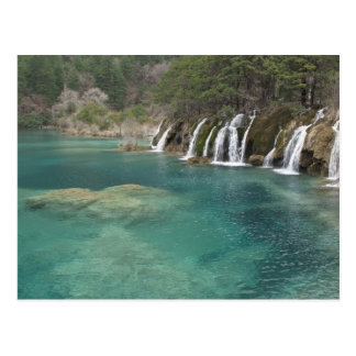 Mineral deposits make waterfalls and clear postcard