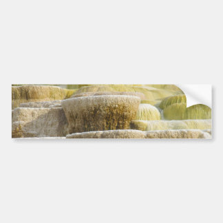 Mineral Falls at Mammoth Springs Wyoming Bumper Sticker